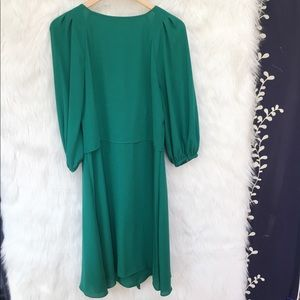 Anthropologie Dresses - Anthro Maeve Emerald Green Tie Front Dress-N20